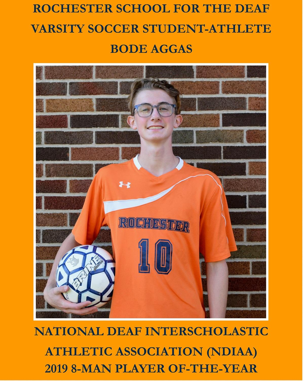 Bode Aggas 2019 NDIAA Division II Soccer Player of-the-Year