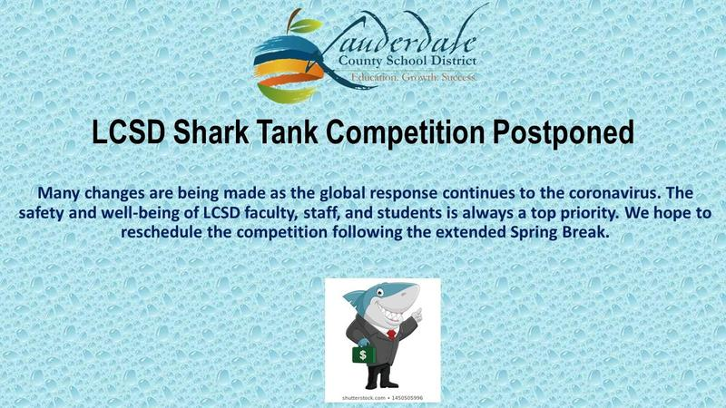 LCSD Shark Tank Competition Flyer
