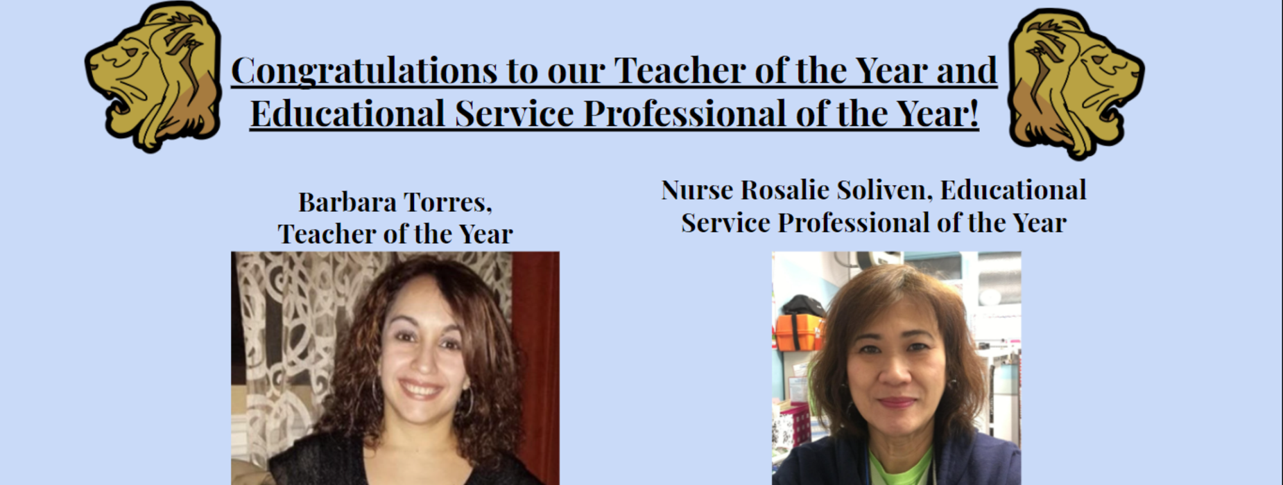 Teacher of the Year and ESP of the Year