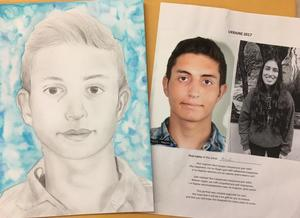 QHS Students Art work for the Memory Project