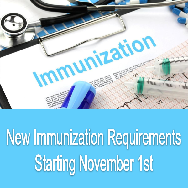 New Immunization Requirements Featured Photo
