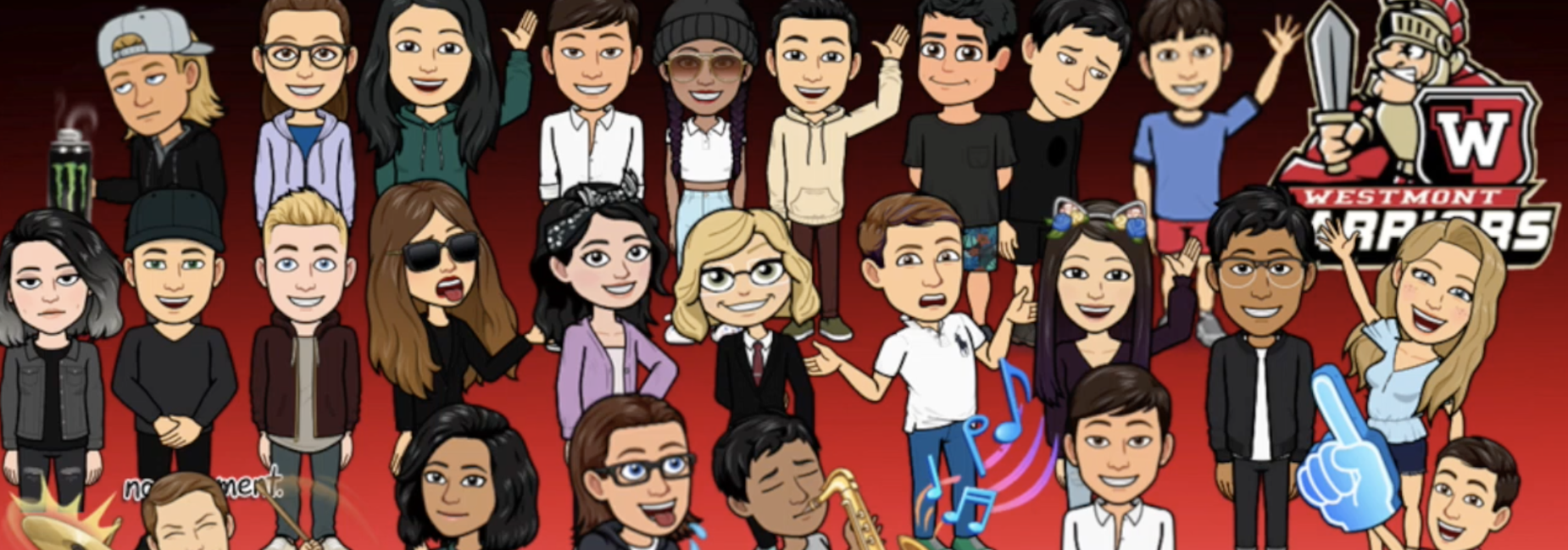 Image of animated character versions of students in the Wind Ensemble