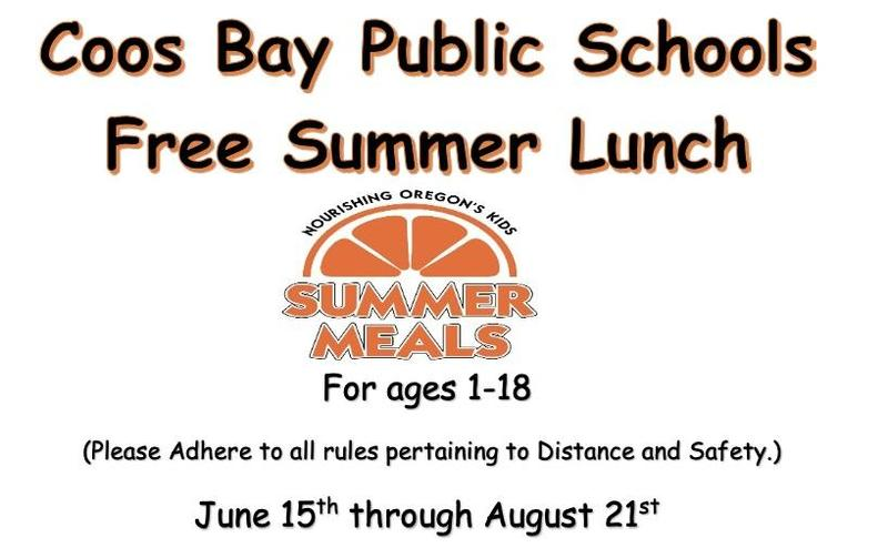 Coos Bay School District Summer Lunch Program