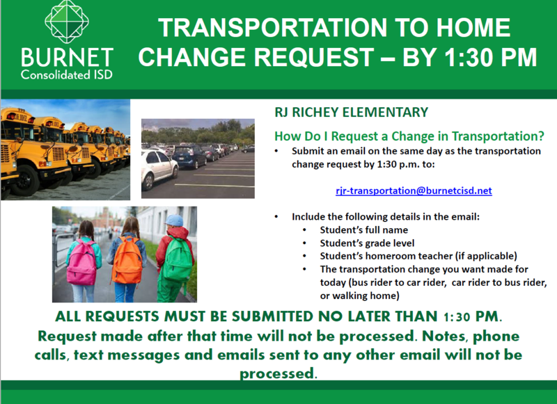Request a Change: How a Student Gets Home from School Thumbnail Image