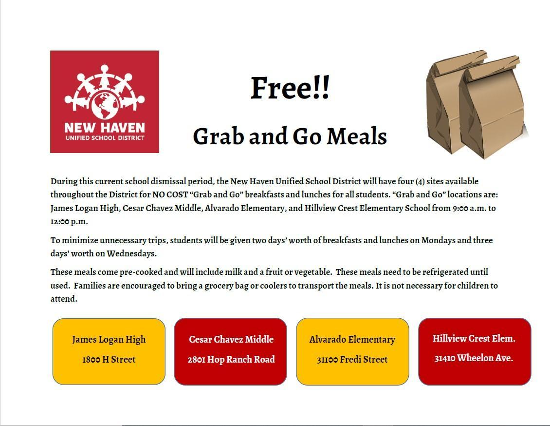 Grab and Go Meal Info