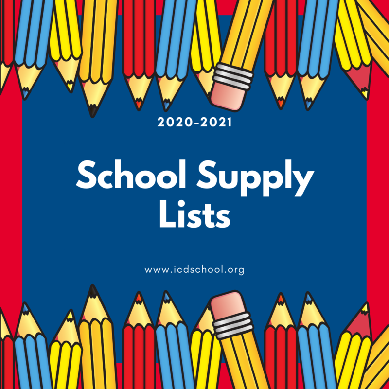 2020-2021 School Supply Lists! Featured Photo