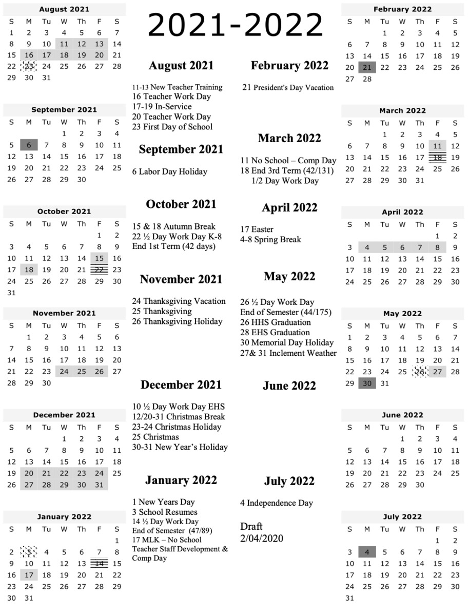 Clark County School District Calendar 2021-22 2021 2022 Draft School Calendar – Human Resources – Uinta County