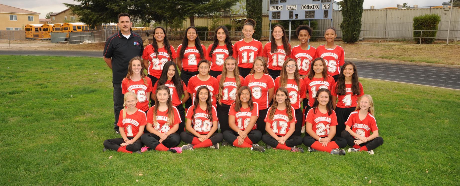 SGMS Girls Softball Team