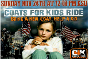 Coats for Kids Drive November 24, 2019 - see www.coatsforkids.org for more details