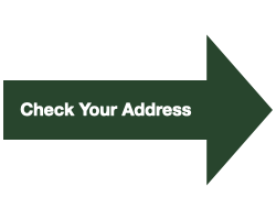 """Green Arrow with White Text that Reads """"Check Your Address"""""""