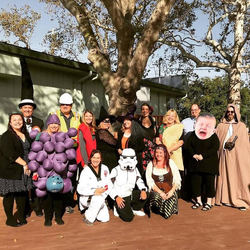 District Staff in Halloween costumes