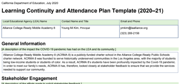 Learning Continuity & Attendance Plan Thumbnail Image
