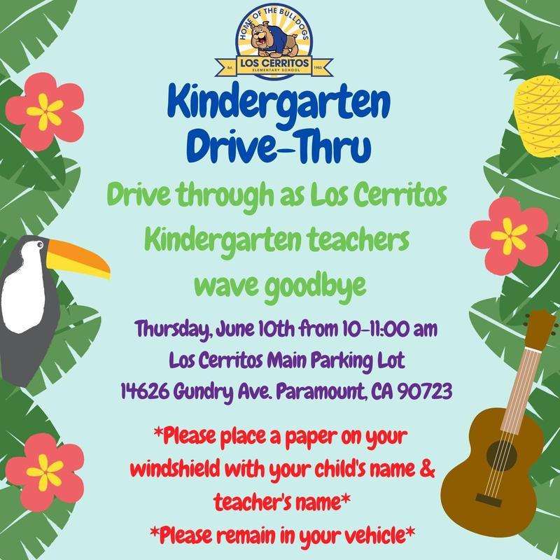 Kindergarten Drive-Thru 6/10/21 10-11:00 a.m. Featured Photo