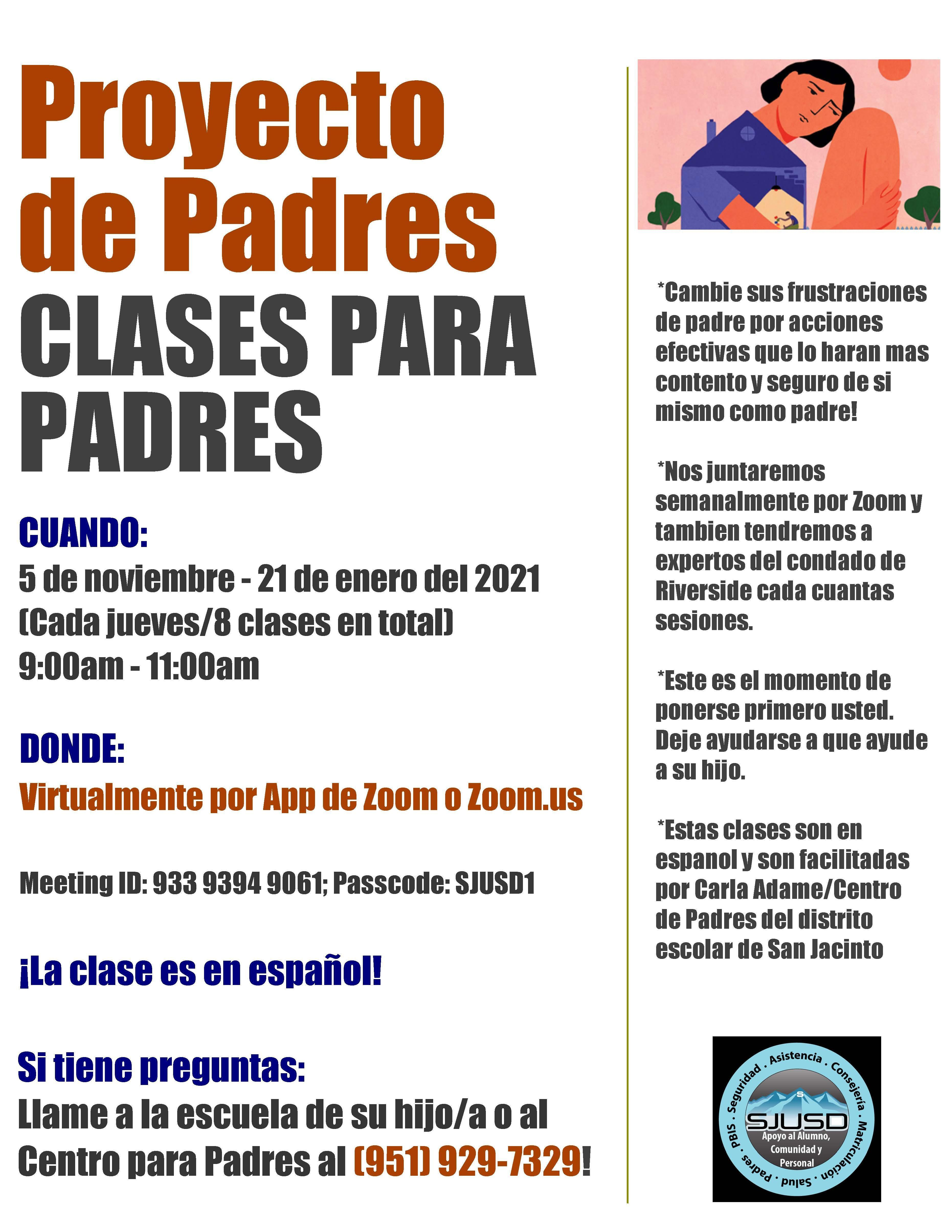 Proyecto de Padres Clases Para Padres