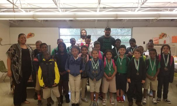 BIG SHOUT OUT to Paul DeRouselle Jr. for coming to Highland to reward our 4th Graders for a job well done!  They were all treated with donuts and juice.  Some were awarded medals for receiving mastery on their LEAP testing in Social Studies,  ELA, and Math.  Many were recognized for no discipline referrals since the start of the school year.  And,  a few were recognized for being asked to join Jr. Beta.  Keep up the great job!  And,  THANK YOU Paul Derouselle Jr. for taking the time to reach out to our students at Highland... our future!