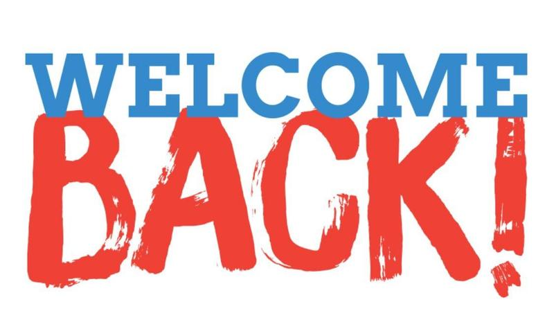Welcome Back Featured Photo