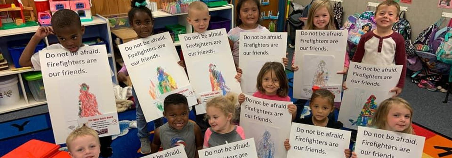Pre-K Fire prevention poster