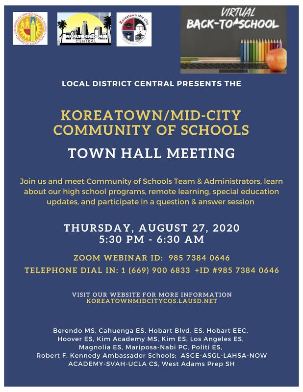 Koreatown/Mid-City Community of Schools Town Hall Meeting Featured Photo