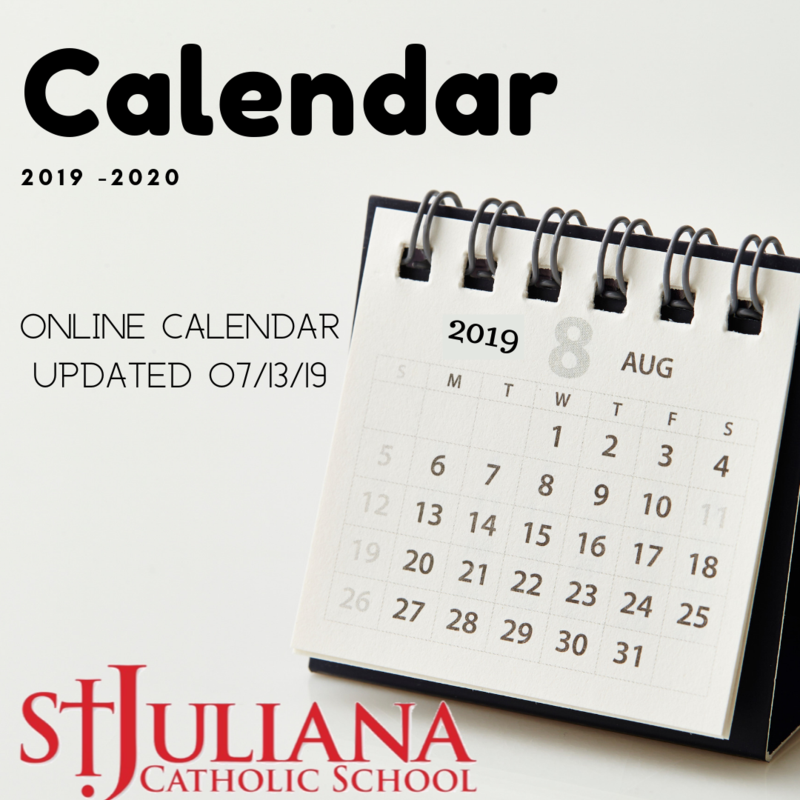 Calendar updated 7/13/19! Featured Photo