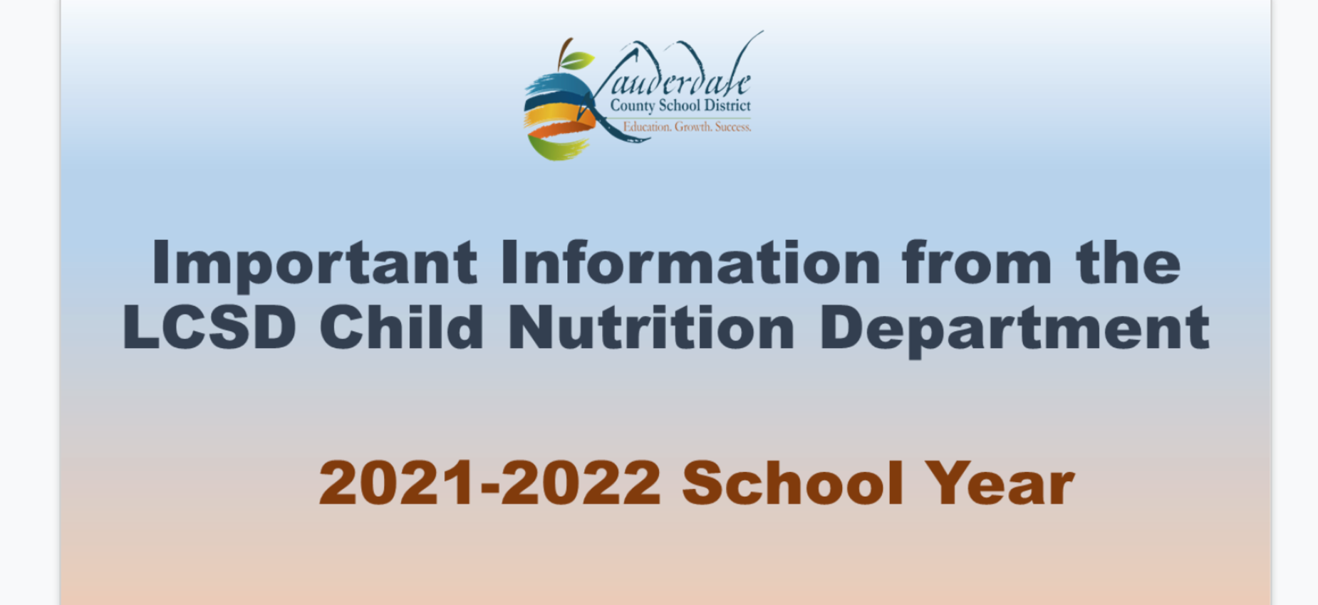 Click for important information from the LCSD Nutrition Dept.