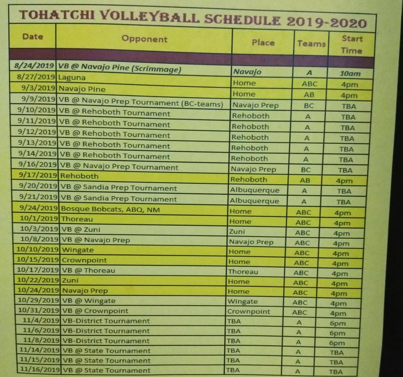 2019-2020 SY Volleyball Schedule Featured Photo