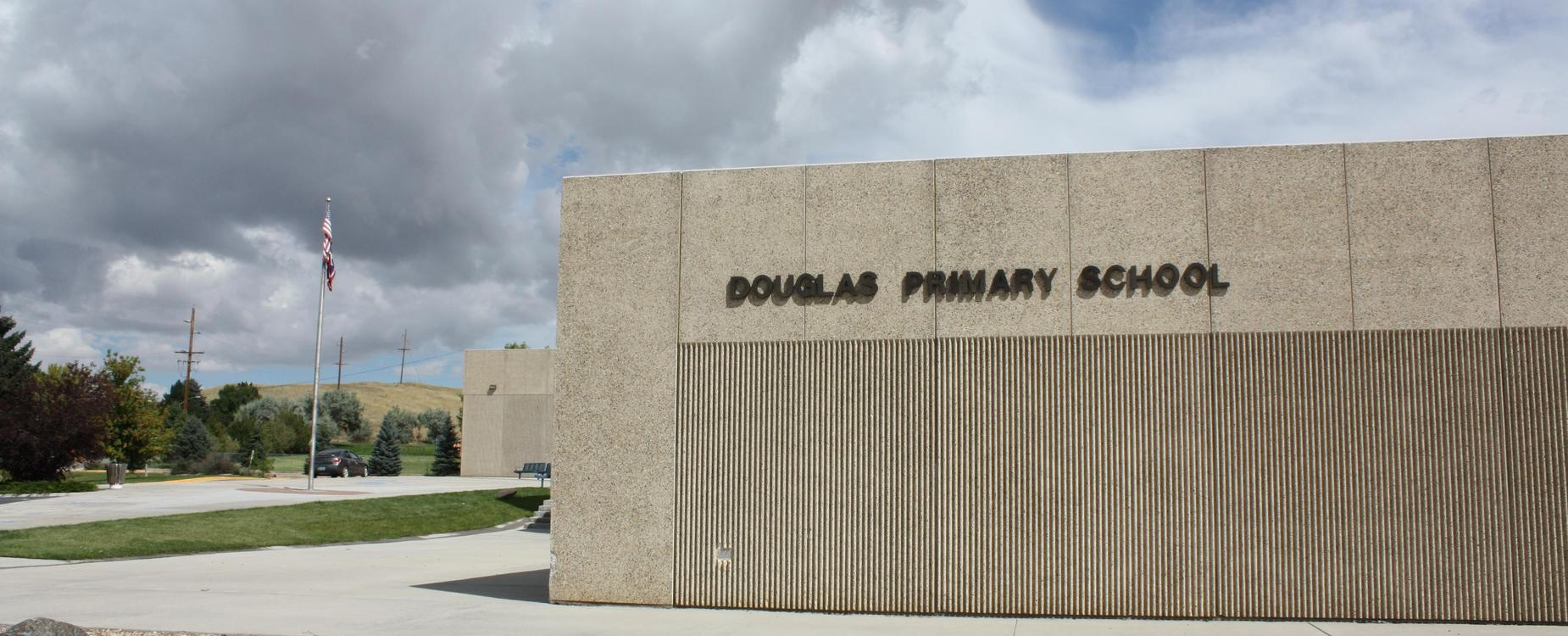 DPS building with words on building