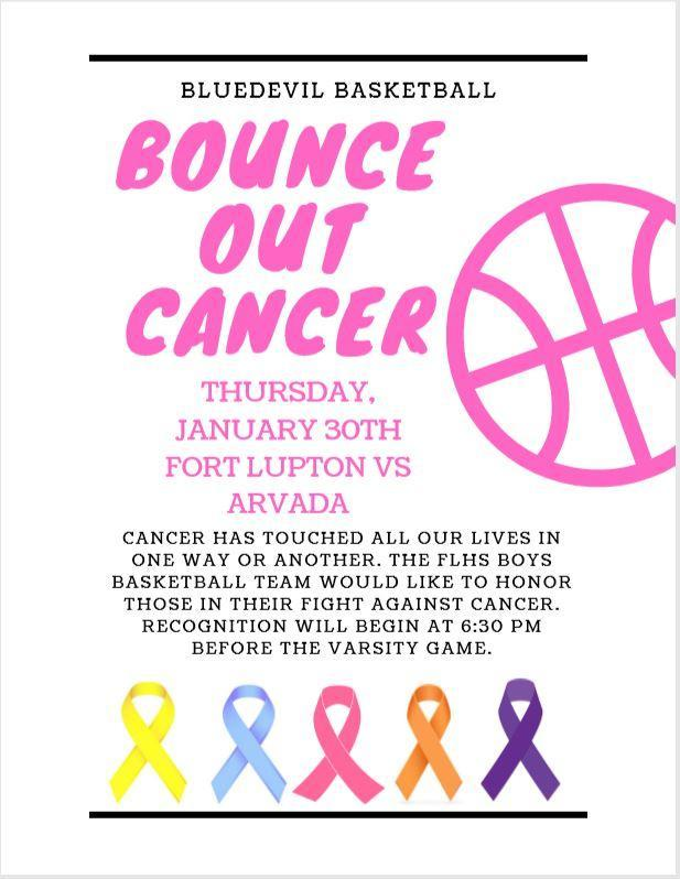 Bounce out Cancer Flyer for FLHS