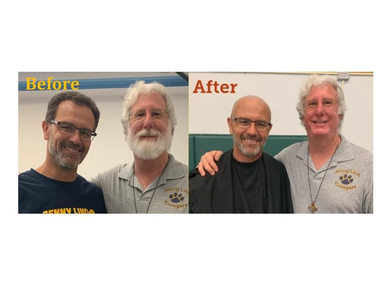 Before and After shave picture Rich Gorton and Mark Caruso