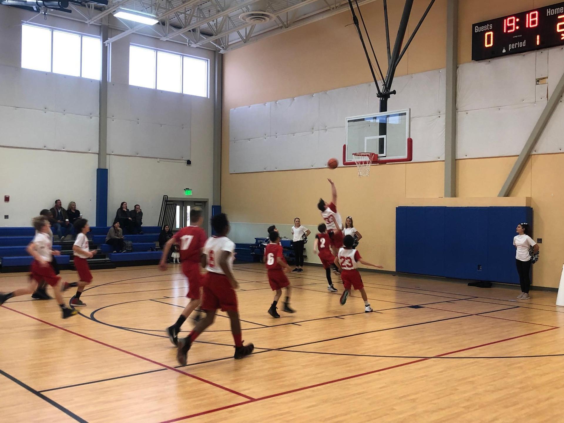 boys basketball layup