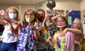 students on Tropical Day