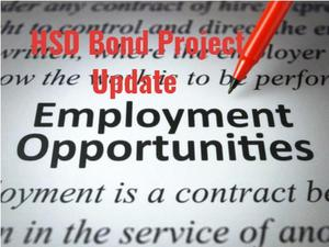 Bond Project Update--Employment Opportunities