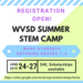 Summer Stem Camp flyer