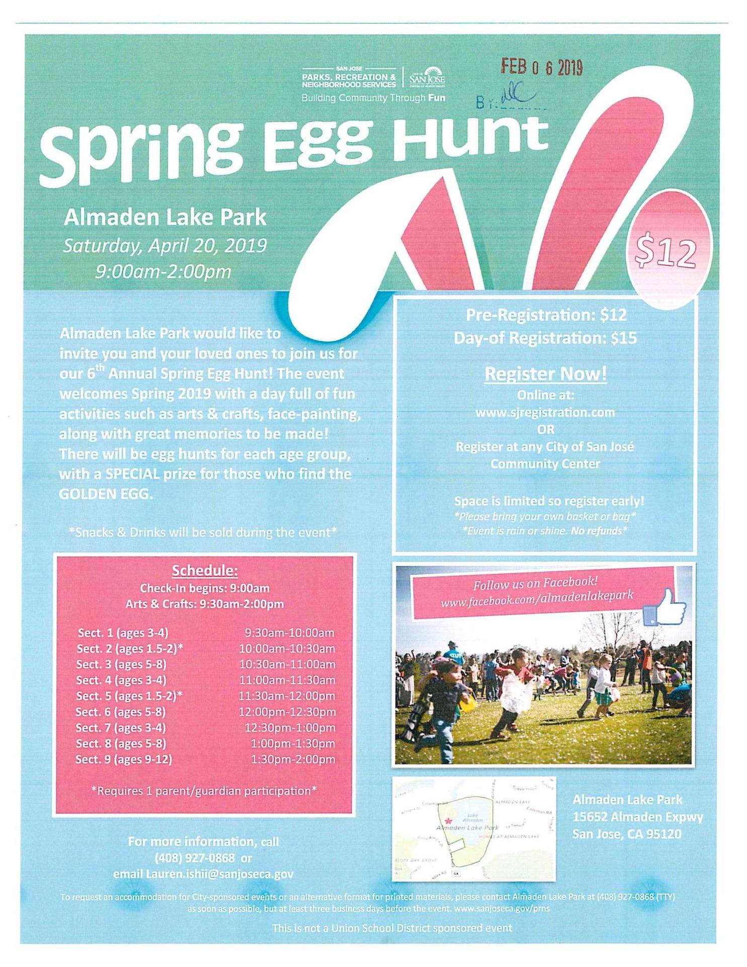 Almaden Lake Park Spring Egg Hunt