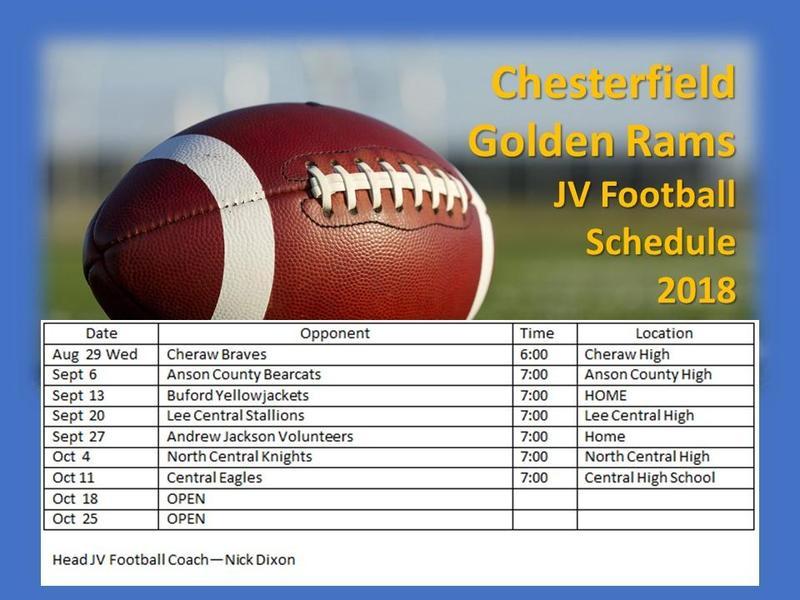 JV Football Schedule Featured Photo