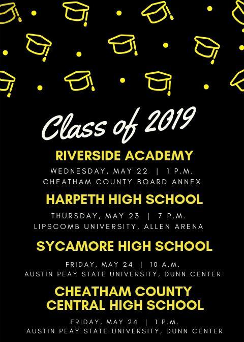 District Graduation Announcement