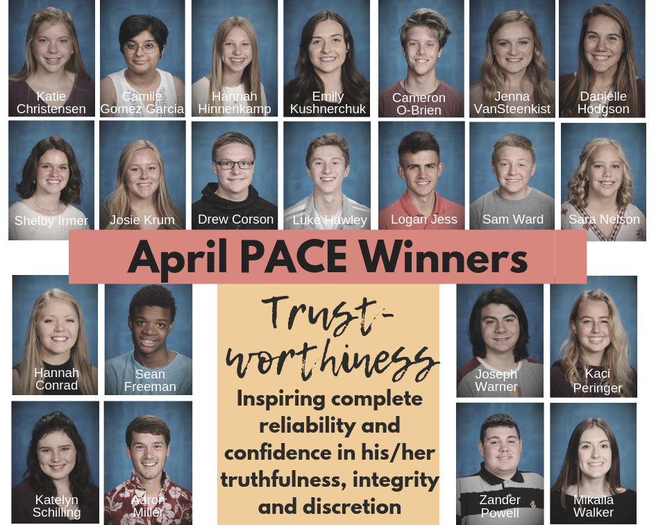 April PACE Winners