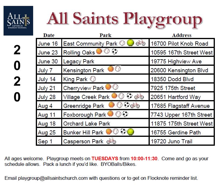 Playgroup Summer 2020