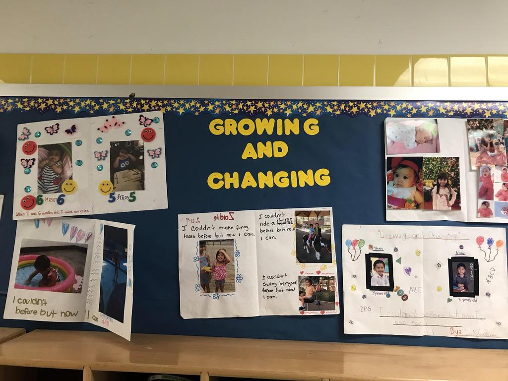 growing and changing display