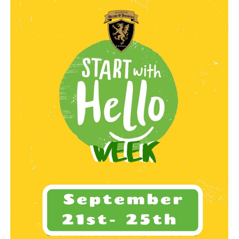 Start With Hello Week!  9/21-9/25 Thumbnail Image