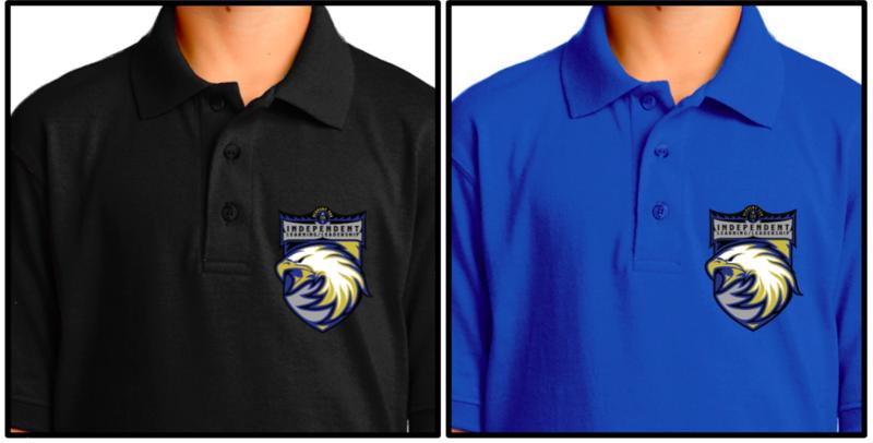 M.S. 129 school uniform shirt with new logo