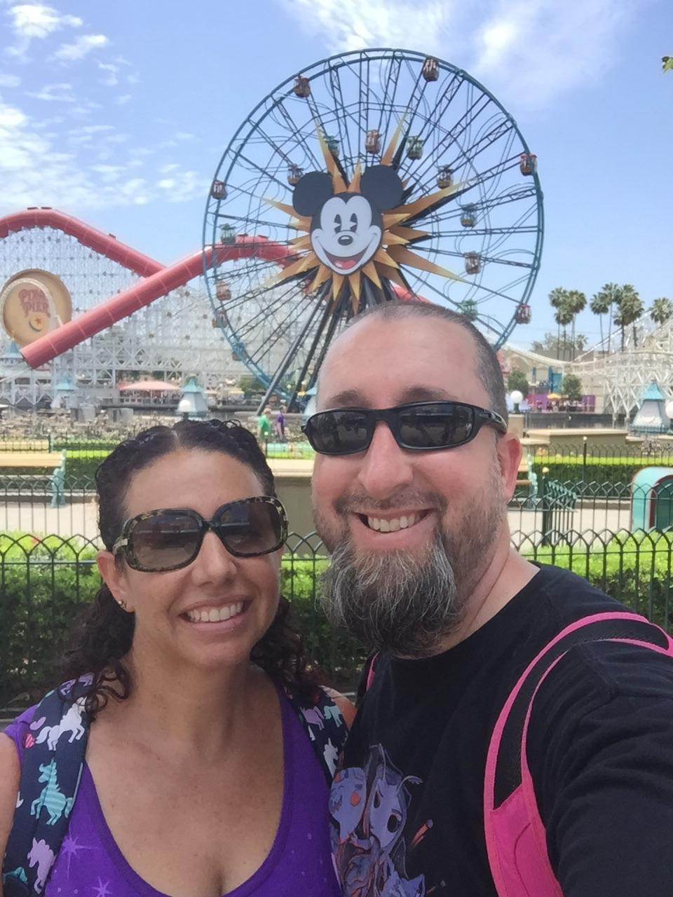 Mr. Barr and his wife selfie at Disneyland.