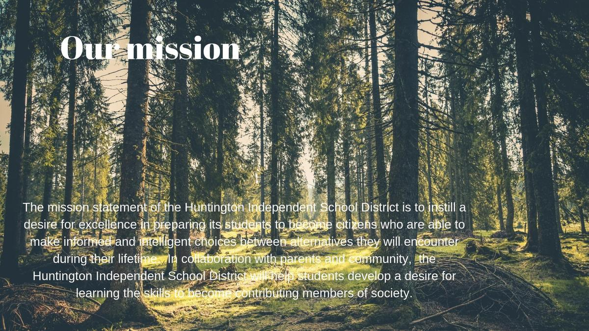 forest with mission statement