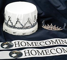 King and Queen sash and crown