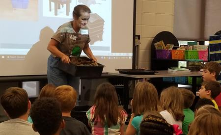 3rd Graders learning about composting