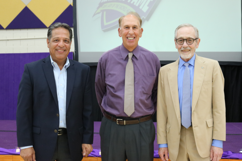 photo of OLSH Athletics Hall of Fame 2021 Mike Rodriguez, Don Eckerle, and J Bonner
