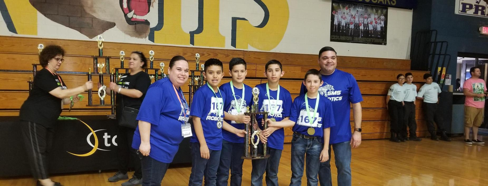 SMS Robotics Team wins 3rd at TCEA Competition