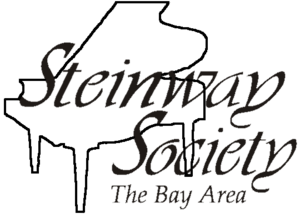 A piano as the Steinway Society's logo.