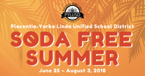 Soda Free Summer graphic.