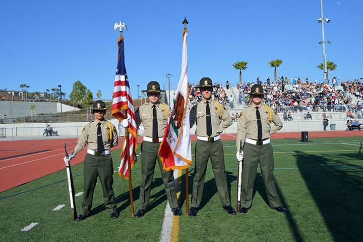 Honor guard at graduation