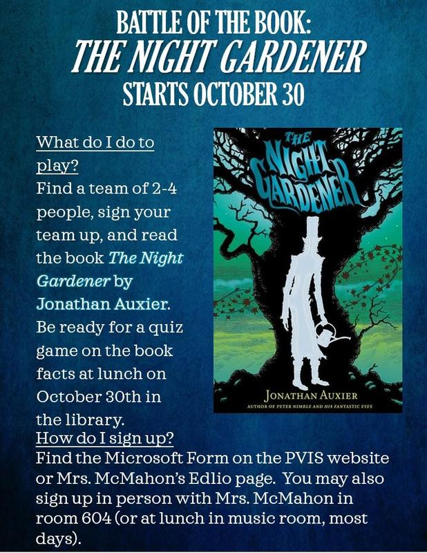 BATTLE OF THE BOOK: ​ THE NIGHT GARDENER ​ STARTS OCTOBER 30​ Thumbnail Image